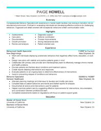 Resume Tips for Behavior Specialist