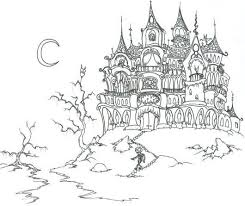 Small Picture Free Halloween Coloring Pages Haunted House Halloween Halloween