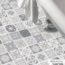 funlife europe waterproof imitation tile wall stickers retro bathroom pvc floor wall sticker diy home decor