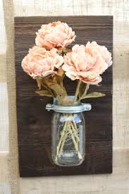 custom made wood flower mason jar panel