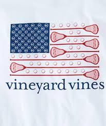 Long Sleeve Lacrosse Flag Pocket T Shirt