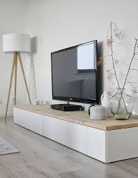 living room ideas on a budget ikea. short ikea besta storage unit topped w/ wood plank slab used as entertainment center living room ideas on a budget ikea