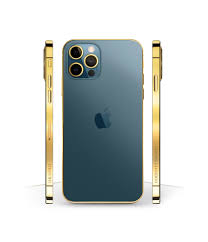 New Luxury 24k Gold Classic iPhone 12 Pro and Pro Max Pacific Blue - Leronza