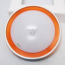 12 inch 8w flush mount led ceiling light round white c w 15 5 inch type b frame orange