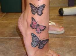 Butterfly Tetování Na Noze Dívky Hodnota A Fotografie