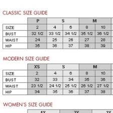 Neiman Marcus Classic Size Chart