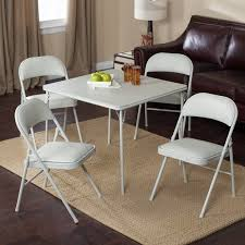 Meco Sudden Comfort Deluxe Double Padded Chair and Back - 5 Piece Card Table Set Grey Dream Walmart.com