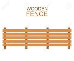 wooden farm fence. Vector - Wooden Fence Isolated On White Background. Farm Illustration. Boards Wood Silhouette Construction In Flat Style