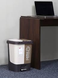 Image Workspace Home By Nilkamal Classic Open Dust Bin 20 Ltr brown
