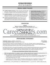 free elementary school teacher resume template teaching examples samples  middle .