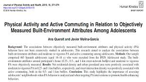 Journal Of Physical Activity Health At Jpahjournal Twitter