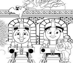 Coloring Pages Thomas Trains Coloring Pages With The Train