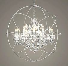 chandeliers chrome orb chandelier polished with view benita