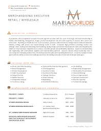 Merchandising Resume Samples Retail Examples Garment Merchandiser