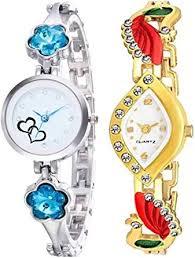 BID Silver & Golden <b>Ladies</b> SkyBlue Crystal Diamond <b>Watch</b> Casual ...