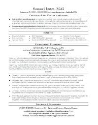 Appraiser Sample Resumes Custom Appraiser Sample Resumes Colbroco