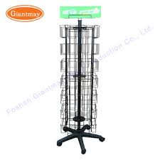Free Standing Christmas Card Holder Display Wholesale Collapsible Floor Standing Rotating Metal Wire Pockets 62