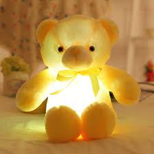 Glow In The Dark Teddy Bear Night Light Buy Glowing Night Light Led Large Teddy Bear Plush Toy For
