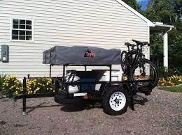 this basic utility trailer camper setup