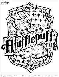 Harry Potter Coloring Pages Hogwarts 2360767 Crest Chronicles Network