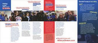 Campaign Brochure 2016 Presidential Campaign Literature General Election