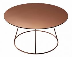contemporary coffee table metal ash copper breeze by 52515 5190871