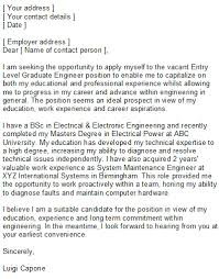 Sample Cover Letter For Entry Level Entry Level Covering Letter Sample