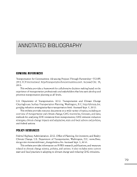 Annotated Bibliography Practitioners Guide To Incorporating