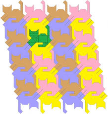 Fancy tessellating cat quilt pattern, tails up. | Cats | Pinterest ... & Fancy tessellating cat quilt pattern, tails up. Adamdwight.com