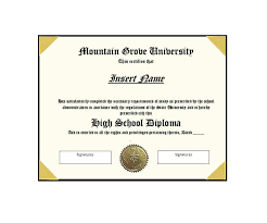high school diploma name 30 real fake diploma templates high school college homeschool