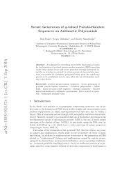 (PDF) Secure Generators of q-valued Pseudo-Random Sequences ...