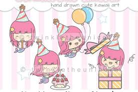 girl birthday cake clip art. Brilliant Birthday KAWAII MERMAID CLIPART Png Graphic Collection Happy Birthday Planner Girl  Birthday Cake For Girl Birthday Cake Clip Art