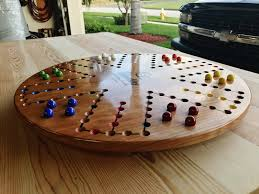 Wooden Aggravation Game 100 Player 100 inch Cherry Aggravation Board Game by woodshaver 42