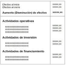Estado De Flujo De Efectivo Economia Ws