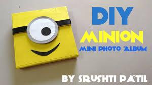 DIY Minion Mini Photo Album | Tutorial by Srushti Patil | Despicable me -  YouTube