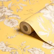 best office wallpapers. Arthouse Vintage Fleurette Gold Effect Floral Wallpaper | Departments DIY At\u2026 Best Office Wallpapers