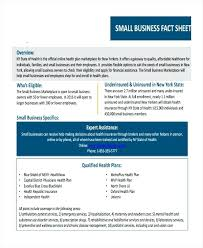 Fact Sheet Template One Pager Small Business – Giancarlosopo.info