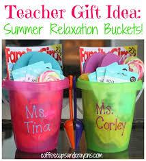summer bucket teacher gift idea