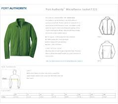 Port Authority Fleece Jacket Size Chart Port Authority Polo Size Chart Arts Arts