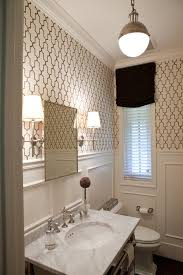 powder room bathroom lighting. astonishing moroccan wallpaper decorating ideas for powder room traditional design with bathroom lighting