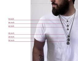 Necklace Length Chart Mens Size Chart Pyrrha