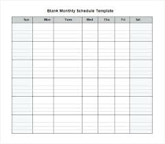Monthly Work Schedule Template Likeness Strong Templates Printable ...