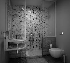 Agreeable Tiny Grey Bathrooms Ideas With Modern Walk In Shower Modern Bathroom Tile Gray