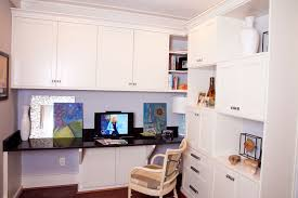 Home office designer Small Space Compact Home Office In White Idaho Interior Design Custom Home Offices Office Builtin Design Closet Factory
