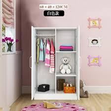 ha luodun wooden wardrobe locker closet simple small wardrobe combination cabinet overall wooden wardrobe bedroom locker white 120 60 40 2 doors