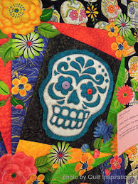 Quilt Inspiration: Quilts (and free patterns) for Dia de los Muertos! & Alice Morgan's was photographed at the 2012 River City Quilters Guild show  in California; the pattern on which her quilt ... Adamdwight.com