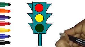 Traffic Rules And Road Safety Drawing How To Draw Traffic Lights Easy For Kids Traffic Signals