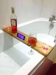 bathtub caddy bath from recycled wood bath caddy chrome