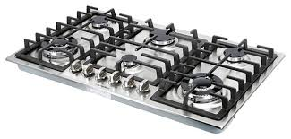 34 stainless steel 6 burner built in stove ng lpg gas cooktops household cooker