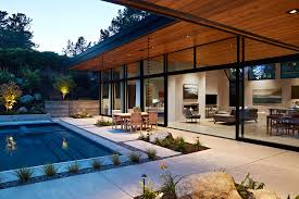 glass wall house klopf architecture archdaily inside for home idea 0
